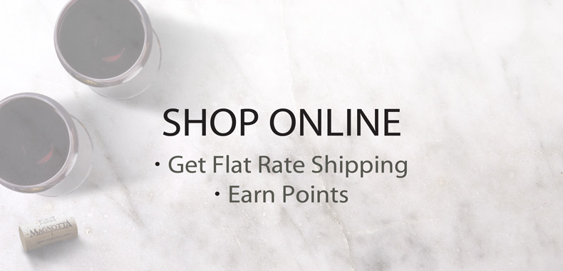 Shop Online, Get Flat Rate Shipping, Earn Points