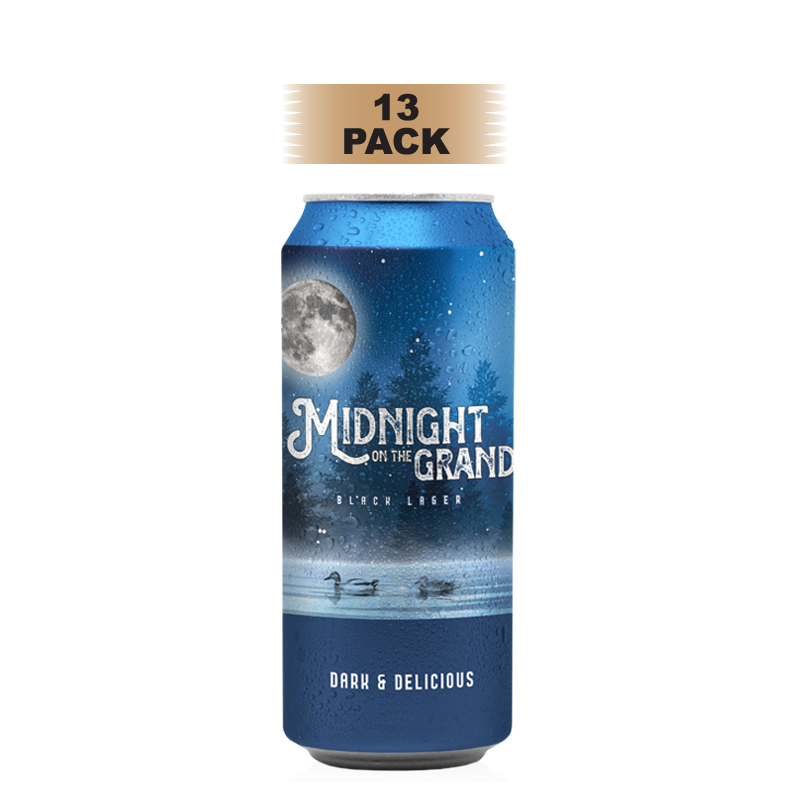 Midnight on the Grand Black Lager - 13 Pack