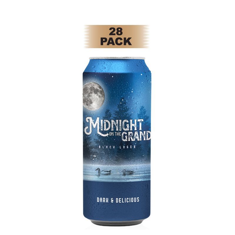 Midnight on the Grand Black Lager - 28 Pack